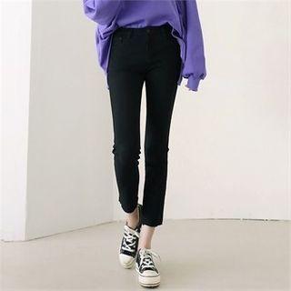 CHICLOOSE - Fleece-Lined Slim-Fit Pants