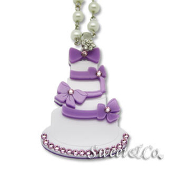Sweet & Co. - Sweet Purple dolly cake swarovski pearly long necklace