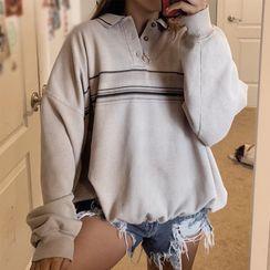 Gabryella - Striped Polo Sweatshirt
