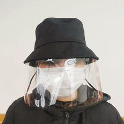 LANWO - Plain Bucket Hat with Face Shield