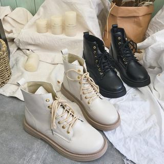 Shoes Galore - Faux Leather High-top Sneakers