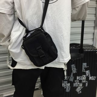 Porstina - Buckled Nylon Crossbody Bag