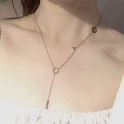 Recitbeau - 不锈钢吊坠Y项链