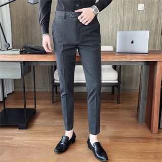 NYEON - Plaid Tapered Dress Pants