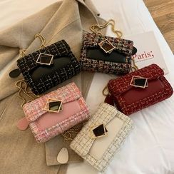 Miloes - Double-Strap Tweed Crossbody Bag