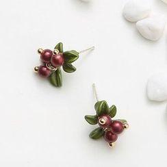 Kokyu - Berry & Leaf Earring