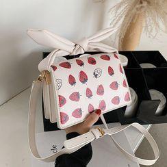 JAMEL - 手提草莓印花斜挎包
