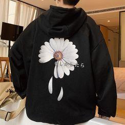 KOKAY - Flower Print Back Hoodie