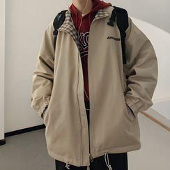 Odin King - Reversible Plaid Zip-Up Jacket