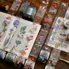 Nina's House - Nature Print Transparent PET Masking Tape