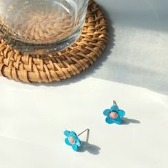 Calypso - 花朵耳環 / 夾式耳環