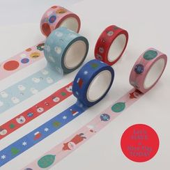 KIITOS - 聖誕印花美紋紙膠帶 (多款設計)