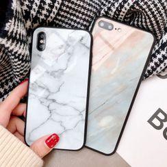 Aion - 大理石玻璃壳11Pro/Max苹果X/XS/XR适用手机壳iPhone7p/8plus个性