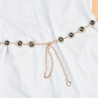 Palmi - Rhinestone Accent Chain Belt