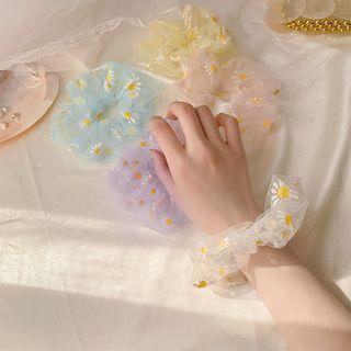Show Mind - Daisy Print Scrunchie