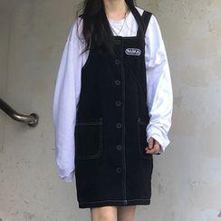 Laurinda - 饰口袋背带连衣裙