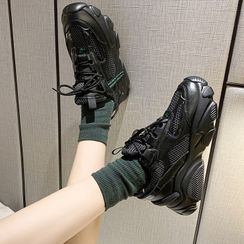 Yuki Yoru(ユキヨル) - Chunky Mesh Panel Sneakers