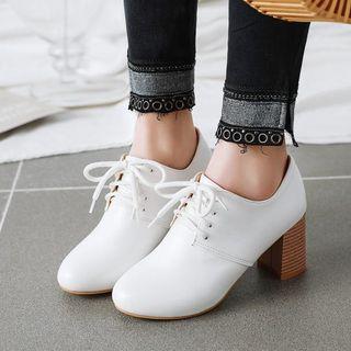 佳美 - 粗跟繫帶鞋