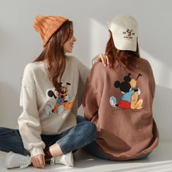 JUSTONE - Mickey Mouse Fleece-Lined Pullover