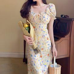 Windflower - Floral Print Chiffon Dress