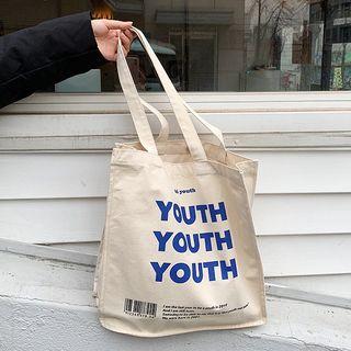YUPIN - 字母帆布手提袋