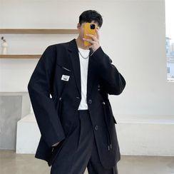 Citigleam - 貼布繡抽繩西裝外套