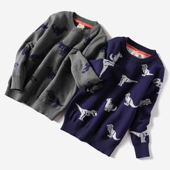 Happy Go Lucky - Kids Dinosaur Print Sweater