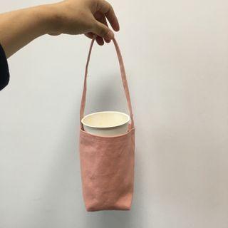 Libra - 纯色帆布手提包
