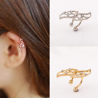 Cheermo - Rhinestone Wing Ear Cuff
