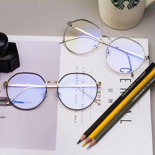 Aisyi - Retro Blue Light-Blocking Metal Eyeglasses