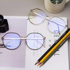 Aisyi - Retro Blue Light-Blocking Metal Eyeglasses