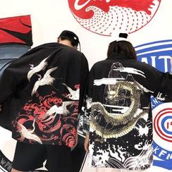 RONIN - 情侶款印花日式外套