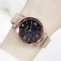 Momento - Roman Numeral Milanese Strap Watch