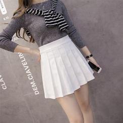 Cherry Dress - Mini Pleated Skirt (Various Designs)