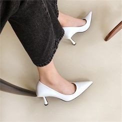 MONOBARBI - Pointy-Toe Flared-Heel Pumps