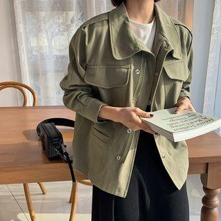 HOTPING - Flap-Pocket Cotton Field Jacket