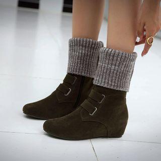 Cinnabelle - Knit Hidden-Wedge Short Boots