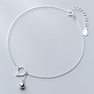 A'ROCH - 925 Sterling Silver Cat & Bell Anklet