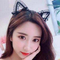 MOROE - 蕾丝饰猫耳头带
