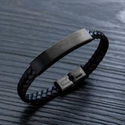 騰翼 - 不鏽鋼長條編織手帶