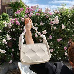 Letheroni - Heart Embossed Mini Handbag