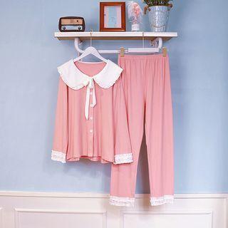 PinkRosa - Long-Sleeve Button Pajama Set