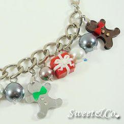 Sweet & Co. - Sweet Mirror Gingerbread & Present Silver Bracelet