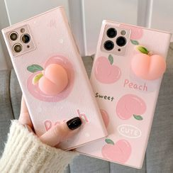 Hephone - Squishy Peach Phone Case - iPhone 12 Pro Max / 12 Pro / 12 / 12 mini / 11 Pro Max / 11 Pro / 11 / SE / XS Max / XS / XR / X / SE 2 / 8 / 8 Plus / 7 / 7 Plus
