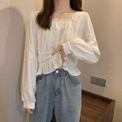 Mikiko - 长袖方领衬衫