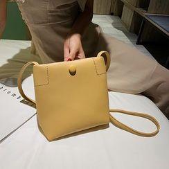 Szeta - Square Faux Leather Crossbody Bag
