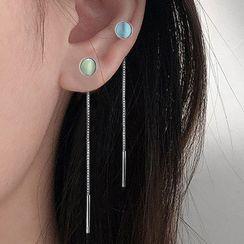 CatSoul - 貓眼石鏈條耳環