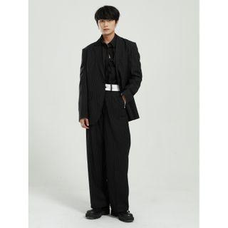 FAERIS - Striped Blazer / Dress Pants