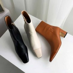 PPGIRL - Block-Heel Ankle Boots