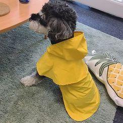 QUBET - Plain Hooded Pet Raincoat